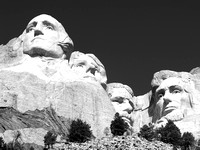 The Presidents of Mount Rushmore.