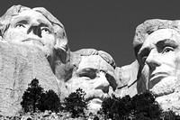 Three Presidents at Mount Rushmore.